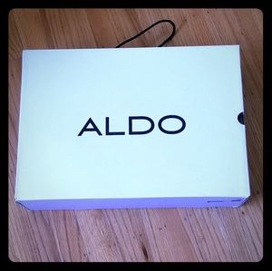 NWOT in the box Aldo black suede boots